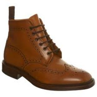 This Is Local London: 'Loake Lester Tan Brogue Boots' , Burton, Worcester