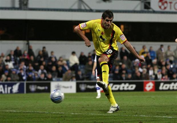 Danny Graham scoring against QPR this season. Picture: Action Images