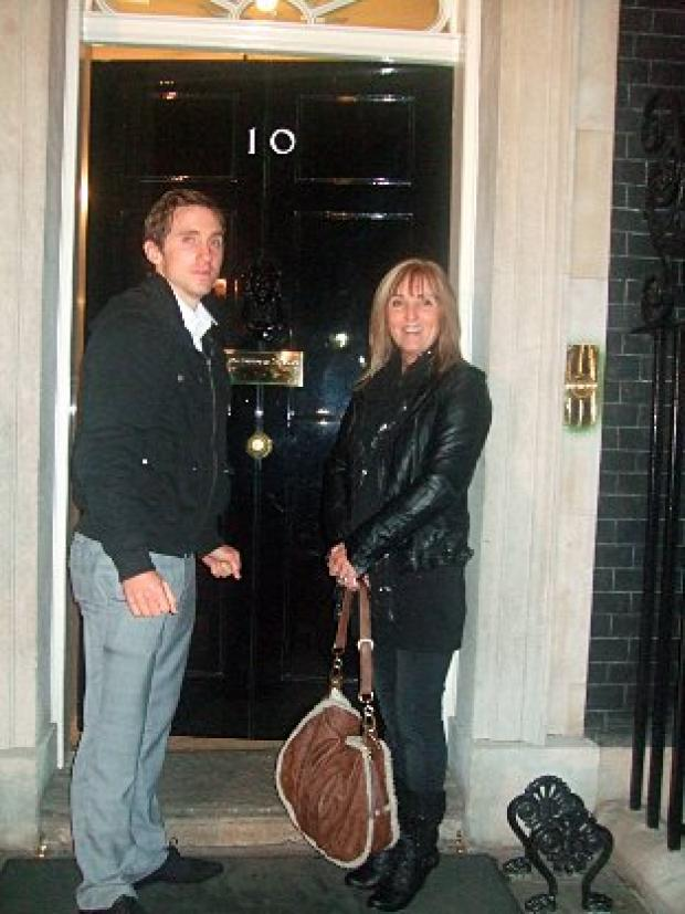 Robbie and Maggied Hughes at 10 Downing Street