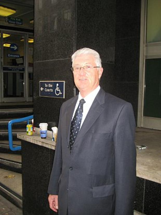Christopher Tappin pictured outside an earlier hearing at City of Westminster Magistrates' Court
