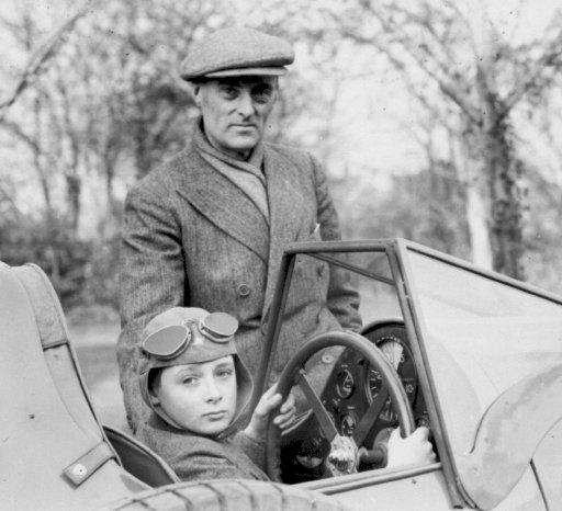 Sir Malcolm Campbell with his son, and future record breaker, Donald