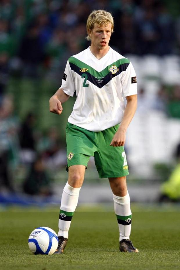 Adam Thompson on international duty. Picture: Action Images