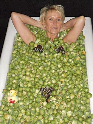 This Is Local London: Baker's wife hops into bath of chocolate covered Brussel sprouts