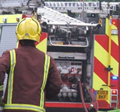 Thames Side crews were called to a garage blaze in Codrington Crescent last night.