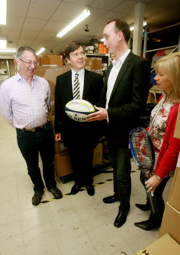 MP visits sports retailer's new headquarters