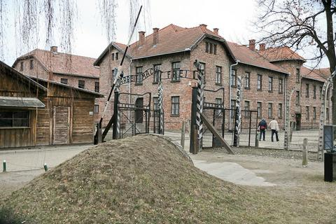 The main gate at Auschwitz I