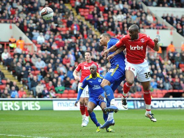 Dany N'Guessan scores for Charlton in March's 2-0 win over Leyton Orient
