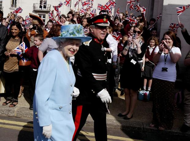 The Queen visiting Waltham Forest Town Hall last month.