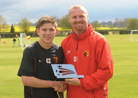 Murray and Dyche on Young Player of the Month Award