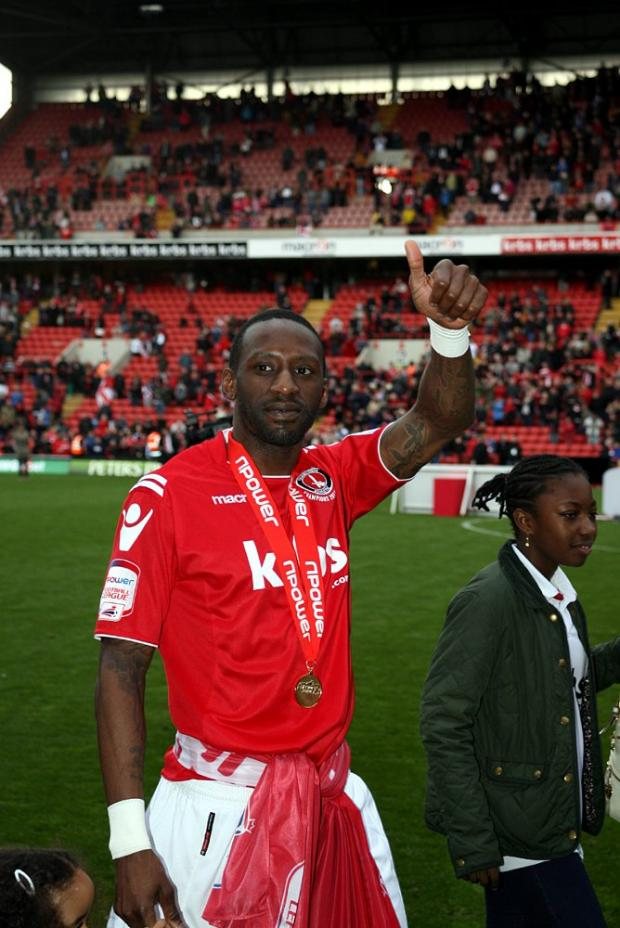 Jason Euell (above) leaves The Valley with a League One title medal. PICTURE BY EDMUND BOYDEN.