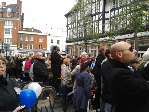 This Is Local London: Crowds as queen arrives on Bromley high street