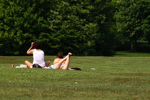 Sun worshippers are making the most of the heatwave while it lasts