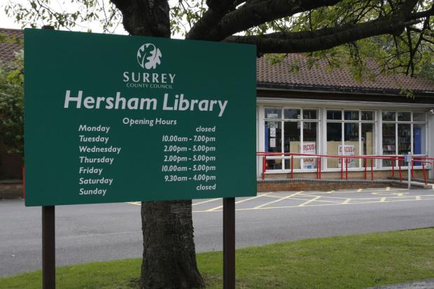 Threatened: Hersham was told to man its library or it faced closure