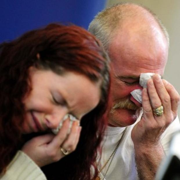 Mick Philpott and wife Mairead speaking to the media following the fire at their home last week which claimed the lives of six of his children