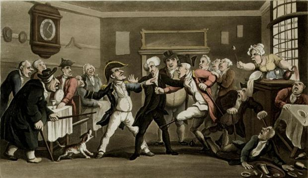 An 18th Century bar room brawl