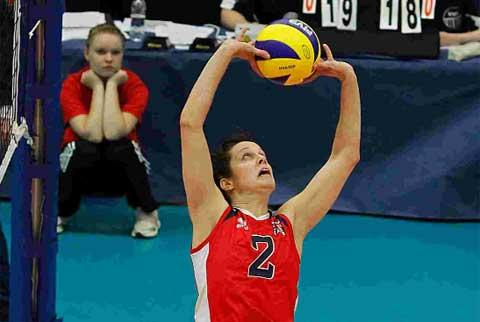 HIGH FLYER: Former Wessex player and Olympic volleyball contender Lucy Wicks. Picture: Jon McGugan