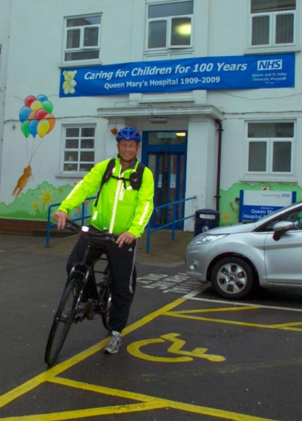 Chief Executive Matthew Hopkins on his bike