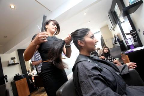 Dr Jaitly cut her hair for charity
