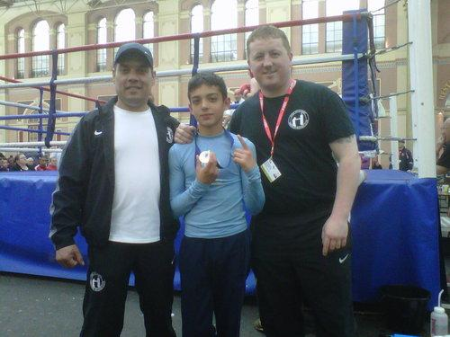 Jamal Khan, centre, has won eight out of eight