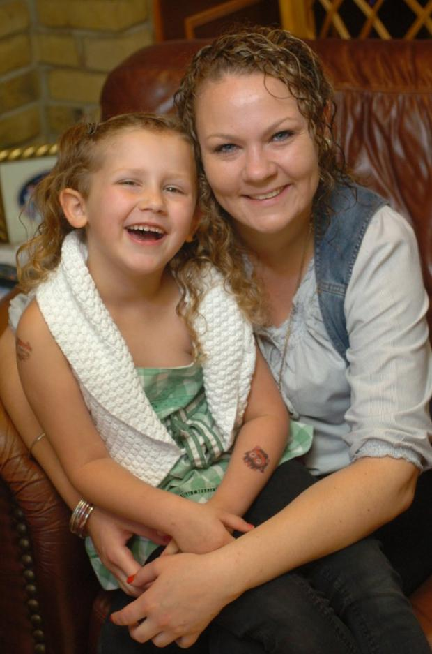 Michelle Hart with her daughter, Tyla, who is now back at home