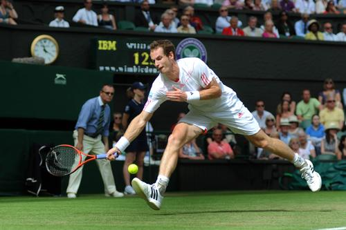 Andy Murray is hoping weather doesn't affect his match at Wimbledon today