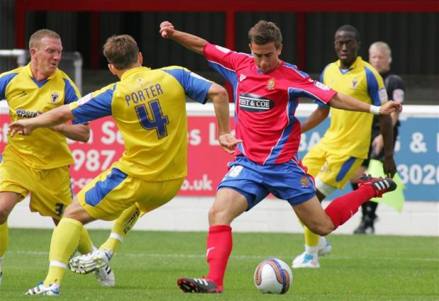 Lee in action for Dagenham & Redbridge. Picture: Action Images