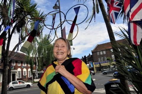 Doreen Gibbs has made her own Olympic decorations