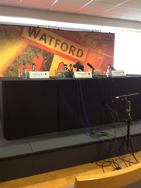 Watford FC top table.