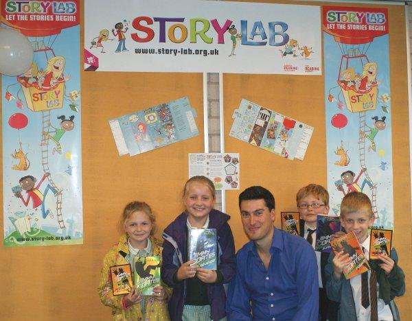 Joe Craig, author of the Jimmy Coates series, visited Sutton Central Library on Friday, July 5, to launch the service's Story Lab summer reading challenge
