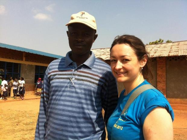 Merton Councillor Krystal Miller joined a volunteer project in Rwanda