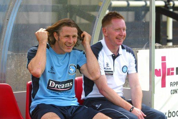 Gareth Ainsworth joins Gary Waddock in the dugout at Staines