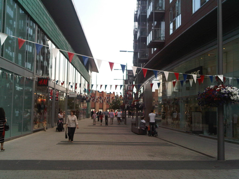 Bunting out at the Heart in Walton for Olympics road race