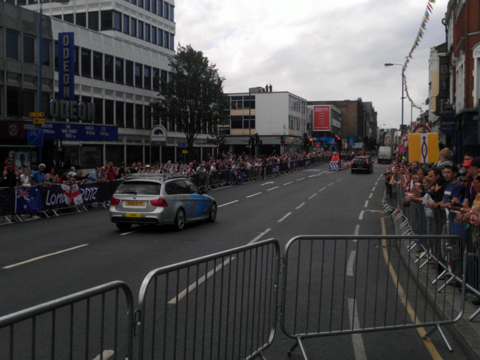 crowds in Putney for Olympics road race