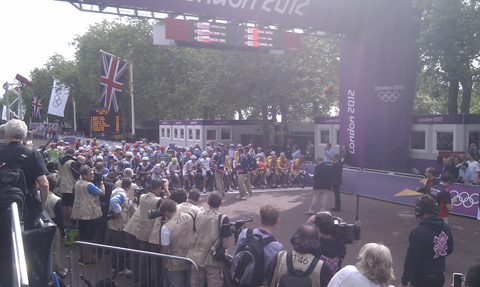 Start of Olympics road race