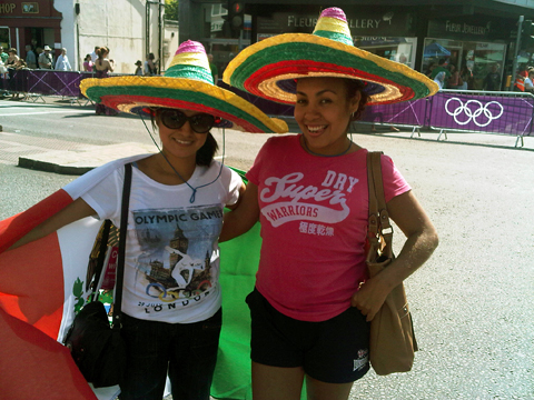 Mexican Angelica Camacho, left, who lives in Walton, and friend Marisol Lecuona, who is on holiday from Mexico City