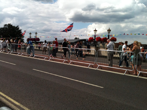 Kingston crowds disperse after the road race