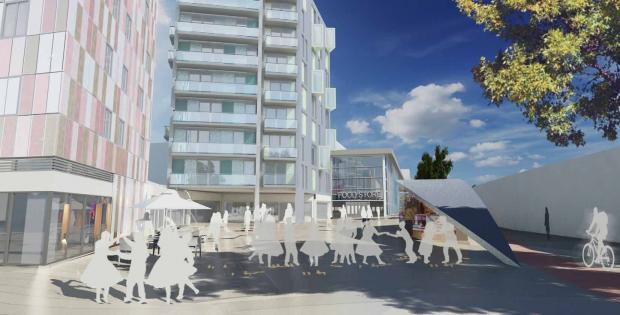 An artists' impression of the Cross Quarter regeneration