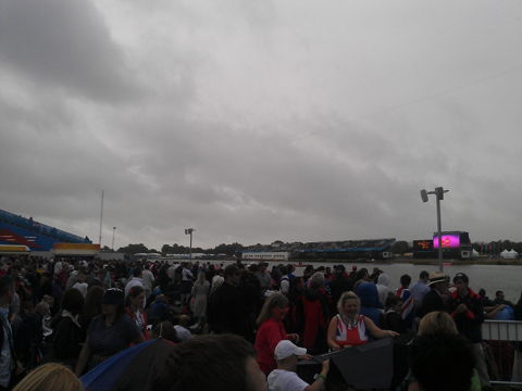 Eton Dorney as thousands of rowing fans await the final day of action at the 2km venue