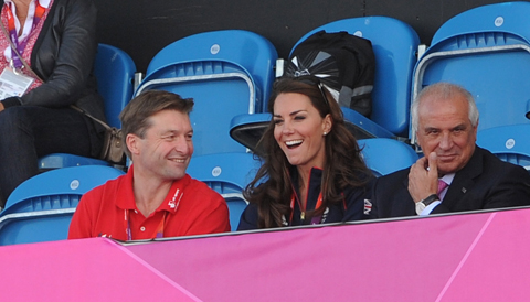 The Duchess of Cambridge at Olympics hockey Team GB v Pakistan