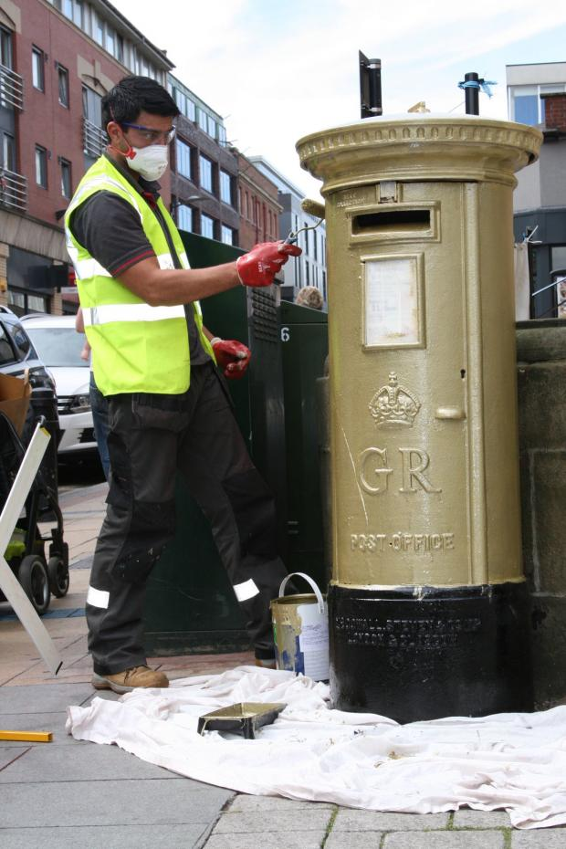 Jessica Ennis postbox vandalised