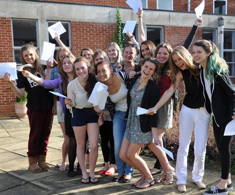 Bromley High School students celebrate their A-level results
