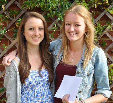 Bromley High School students Sarah Phillips and Amy Yule