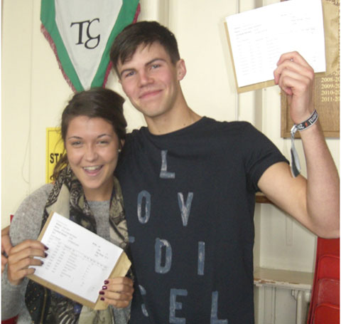Townley Grammar School students Amy McFarland and Scott  Robinson