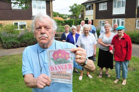 Victor Watson and fellow Panter's residents vent their frustration to News Shopper