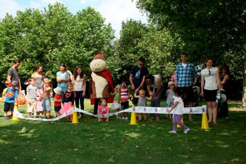 Toddle: The event raised money for Barnardo's