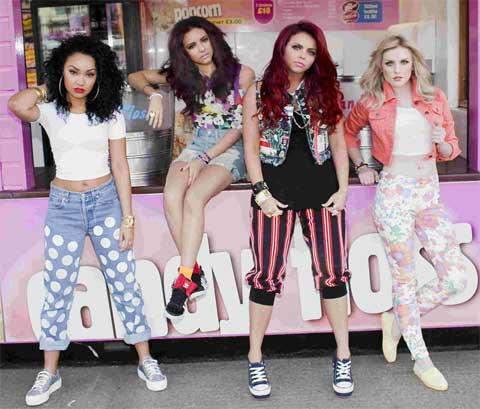 This Is Local London: NUMBER ONE: Perrie Edwards, right, and the rest of Little Mix