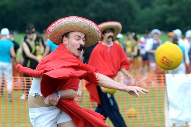 Fancy dress dodgeballers raise thousands for charity