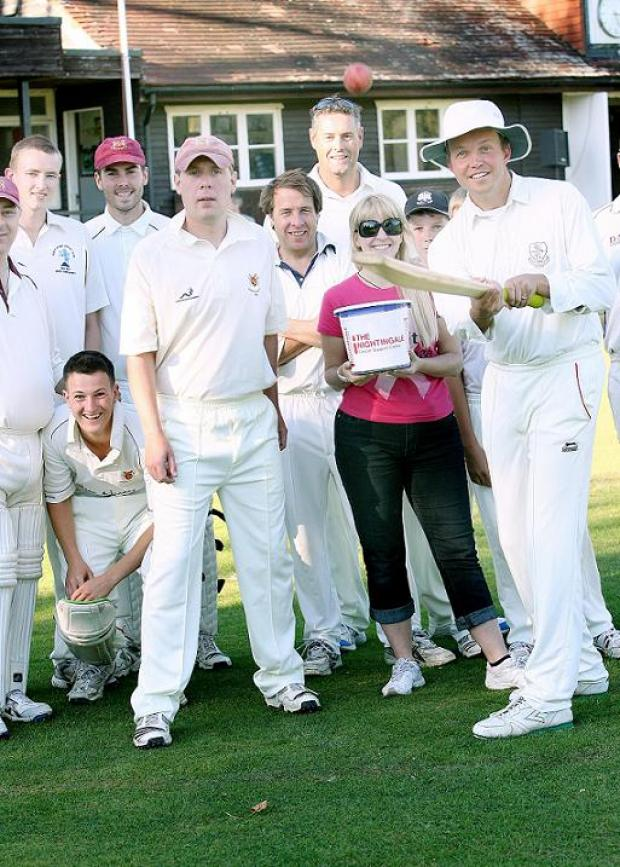 David Burrowes MP (right) with fellow cricketers