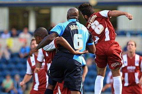 Leon Johnson was sent off at Chesterfield on Saturday