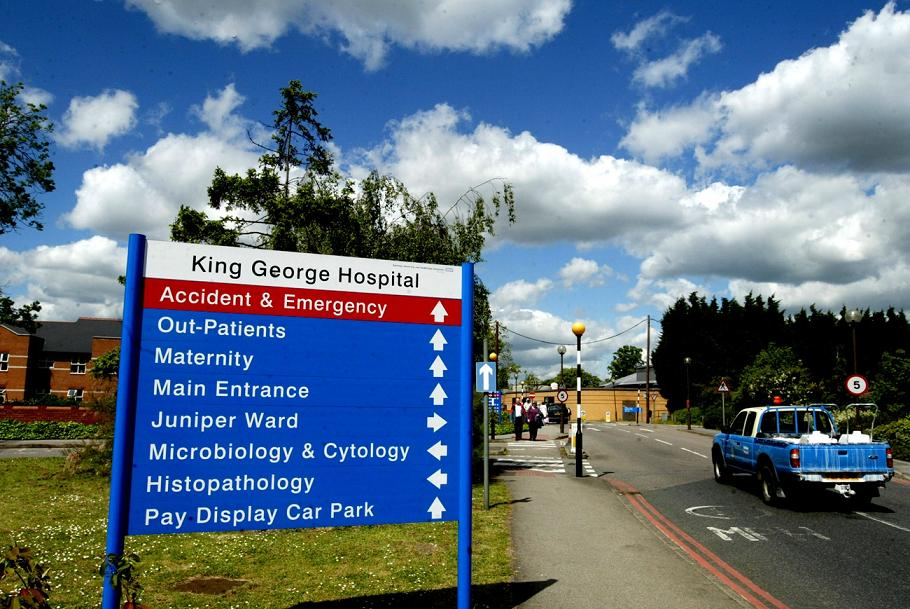 The trust which runs King George Hospital has been referred to the government over its debt